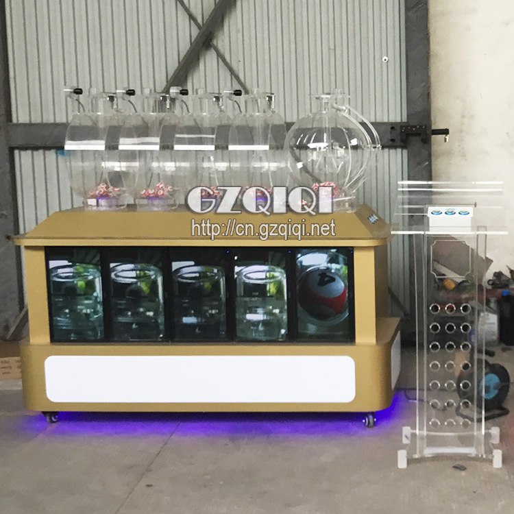 High quality air blowing lottery machine for lotto drawing with screen