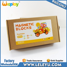 Customized Sticker Brown Box Packing Magnetic Building Blocks with Bag for Amazon Cheap Express Feight Cost
