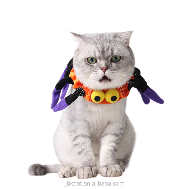 2017 Pet Costume Spider Uniform Collars Funny Dog Clothing Halloween Costumes accessories