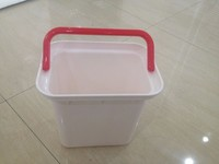 5.8L pp plastic high quality rectangular plastic kids beach bucket with handle