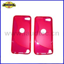 for Apple iPod touch 5 s line tpu gel case with a circle