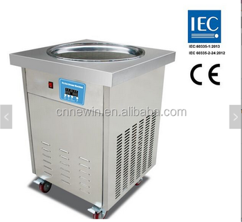 Single pan Thailand Commercial rolled fried ice cream machine price philippines