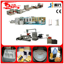 Small model PS foam food box making machine(HX-1040)