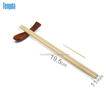 High quality cheap buy disposable round bamboo chopsticks with paper sleeve