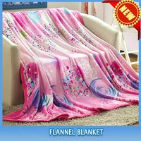 100% Polyester flower printed popular flannel blanket/fabric soft