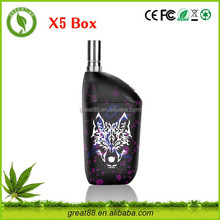 Greentime new products fast charge 650mah 2.6v-3.2v adjust voltage e cigarette snow wolf box mod china factory