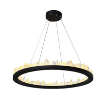Brand New Black Round Crystal Candle pendant light 1190