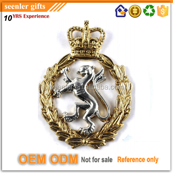 zinc alloy gold and nickle plating cut out pin badge custom
