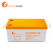 Felicitysolar long life use 12v 200ah lead acid solar battery solutions