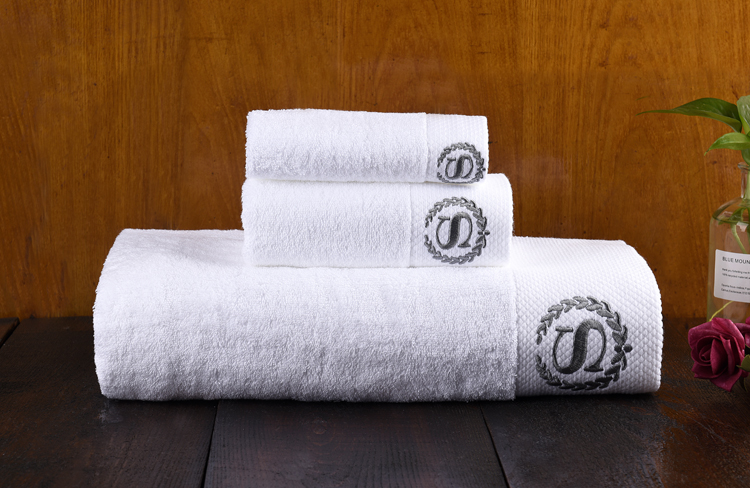 Branded Logo Printed Embroidery Promotional Gift Towel Sets Cotton Gym Towel Organic