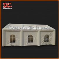 Durable inflatable clear dome tent