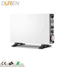 Convector heater with heating wire element and safety protection