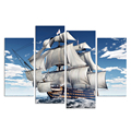 3D Wall Art Sailing Canvas Prints Sailboat Picture Hd Canvas Wall Picture Poster for Living Room Bedroom