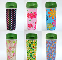 Neoprene insulated drink water bottle sleeves / cover for teen
