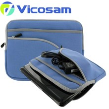 Portable Padded laptop sleeve bag with Accessory Pocket for iPad Mini/2/3,Andorid 7 - 8 inch T