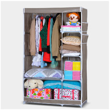 New fashion folding canvas assemble fabric wardrobe for girls