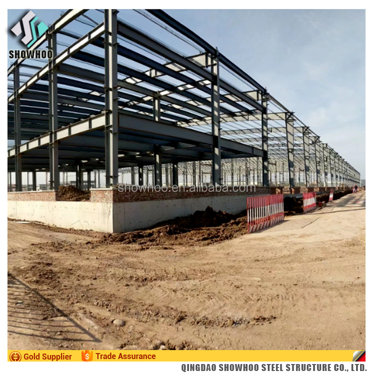 Construction prefabricated industrial metal shed designs prefab light steel workshop building warehouse
