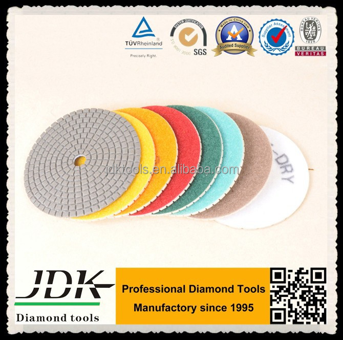diamond granite hand dry polishing pads