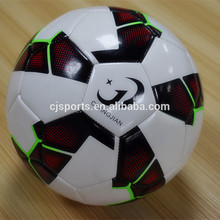New design hot selling fashionable soccer size 5 with white main color