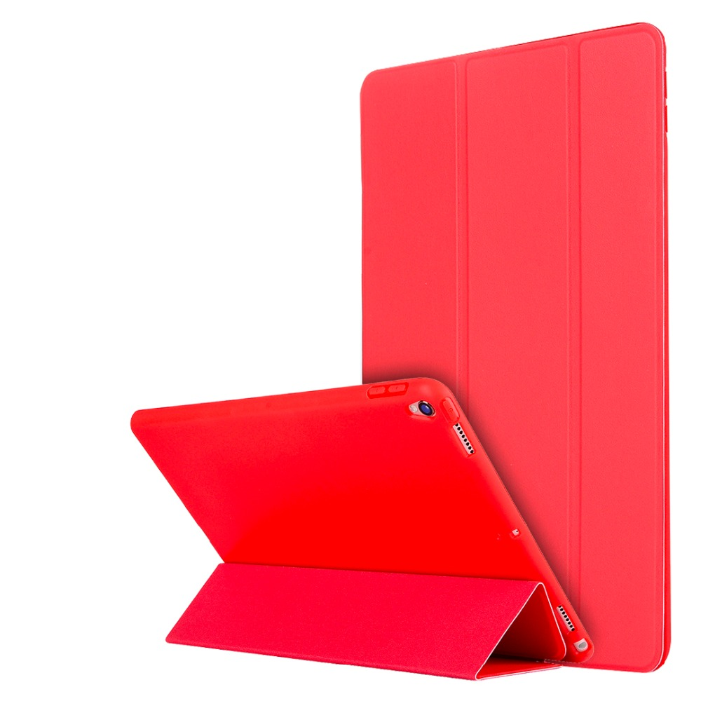 Solid color TPU + Leather Smart Case Cover for Apple ipad pro 10.5 2017