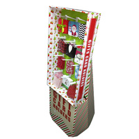 Corrugated Cardboard Display Stand With Hooks