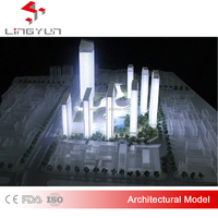 Rendering model - landscape miniature building model, architectural scale model