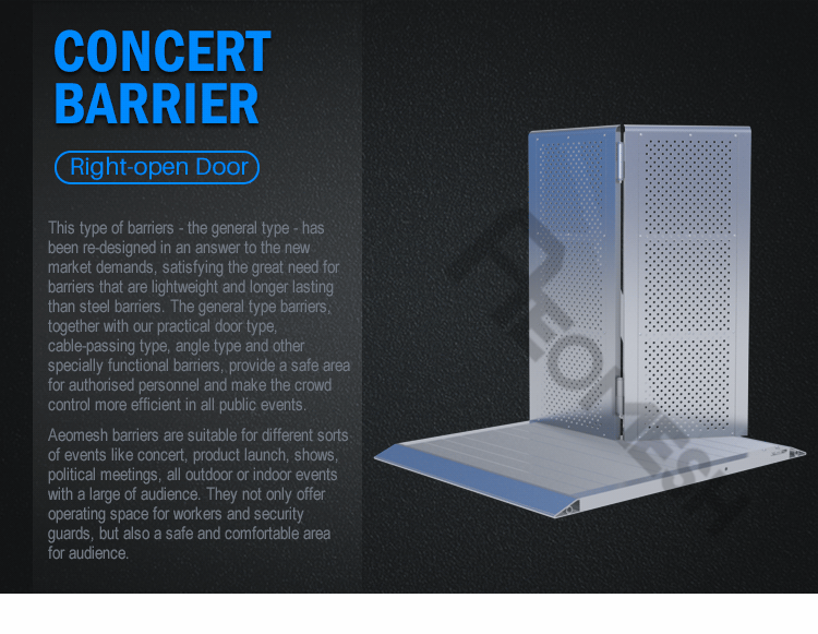 AEOBARRIER Right door Concert Barrier