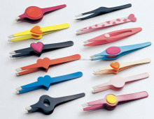 Colorful painting tweezers with Non-slip silicon handle/grip