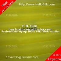 F.D.Dyed natural silk chiffon fabric