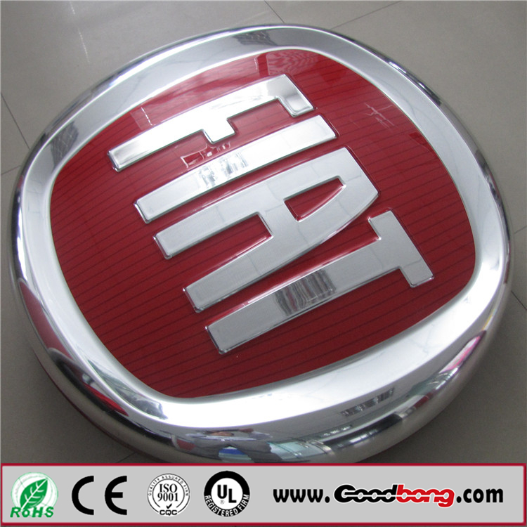 Chrome Advertising Car Brand Signs NameAutomobile Exhibition Logo -  signs of cars with names
