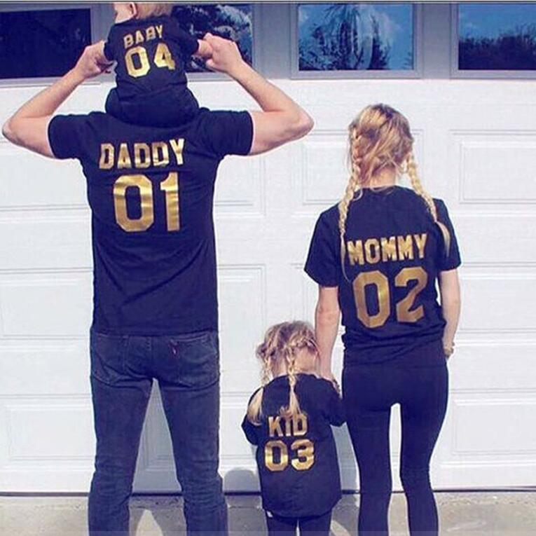 Daddy Mommy Kids Top Shirts Online Shopping Usa Family Photo Man Shirts