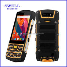 100 raw test rugged dropship mobile cellulare Quad Core IP68 Walkie Talkie RFID NFC unbreakable waterproof cell phone feature