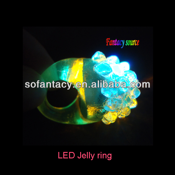 colour changing led party flashing light rings,led jelly finger ring