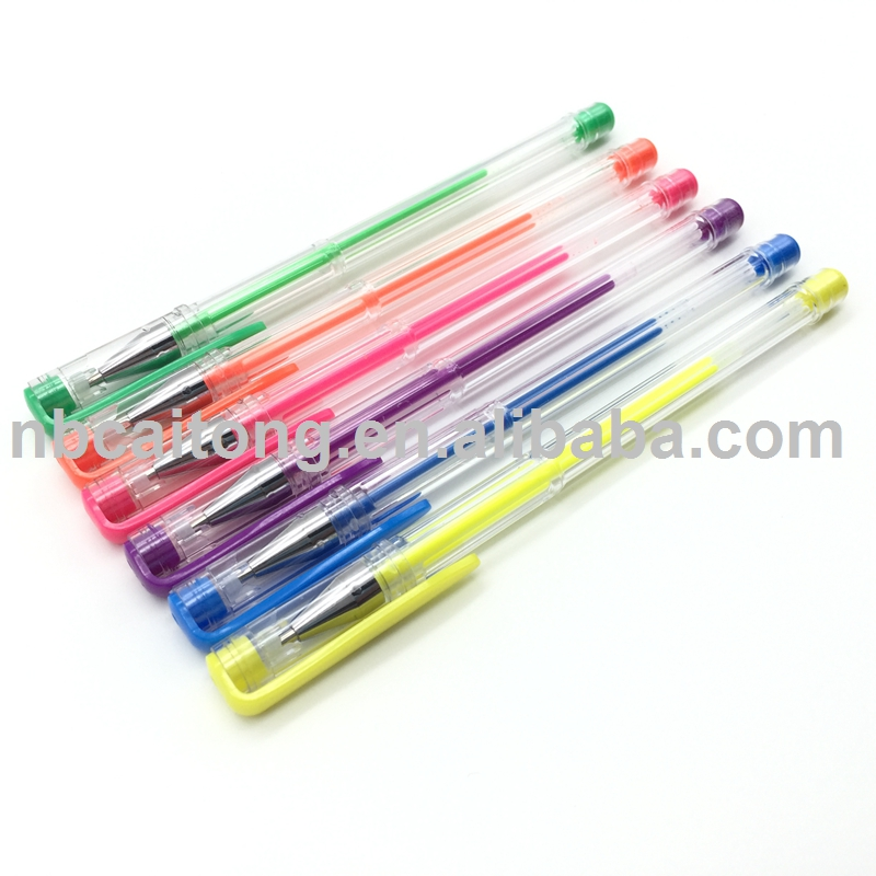 Colorful Neon Colored Gel Ink Pens