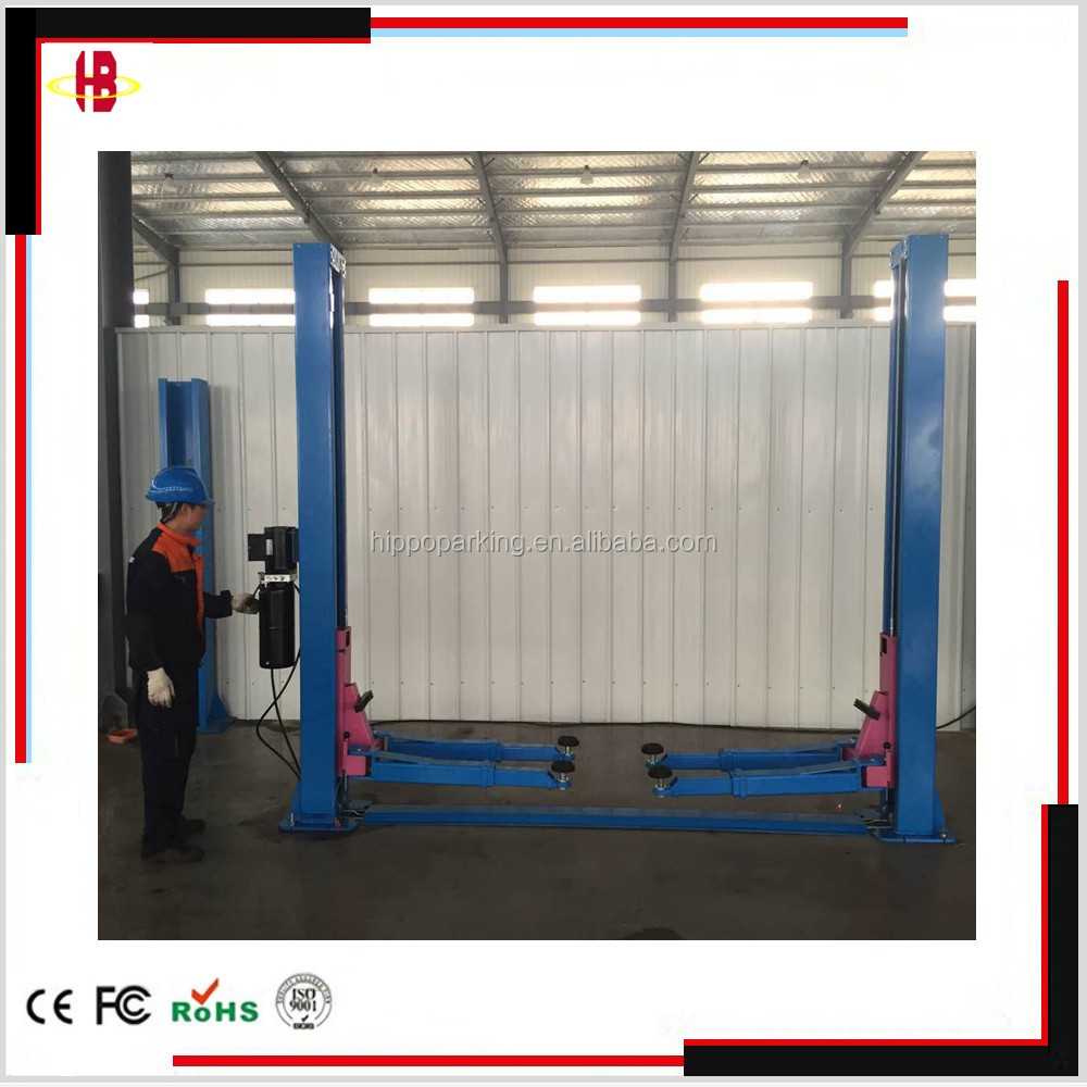 Floor plate hydraulic 2 post car repair lifts with CE for sale