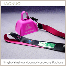 Promotional Personlized Logo Metal Cowbell With Strap