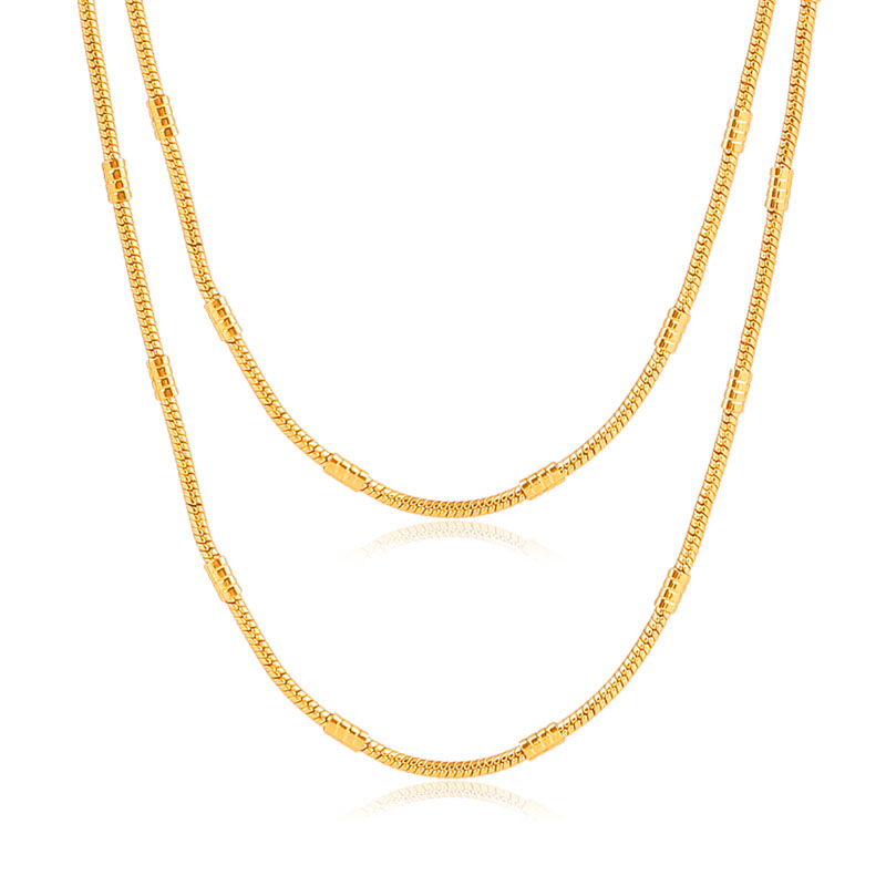 ATHENAA 18k Gold Plated Brass Long Chain Necklace Women Wholesale Yiwu Jewelry