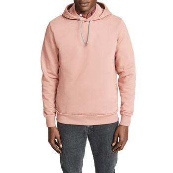 Hot Sale Terry Plain Pink Logo Hoodie Patch Fashion Premium Cotton Hoodie