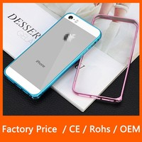 2015 New Products Ultra Thin Aluminium Metal Arc Round Edge Bumper Frame Case for Apple iPhone 5S 5