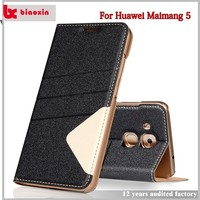 High impact top quality leather cell phone case for huawei maimang 5