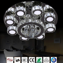 Led crystal ceiling lamp modern simple crystal patch light source ceiling lamp lobby living room round lighting