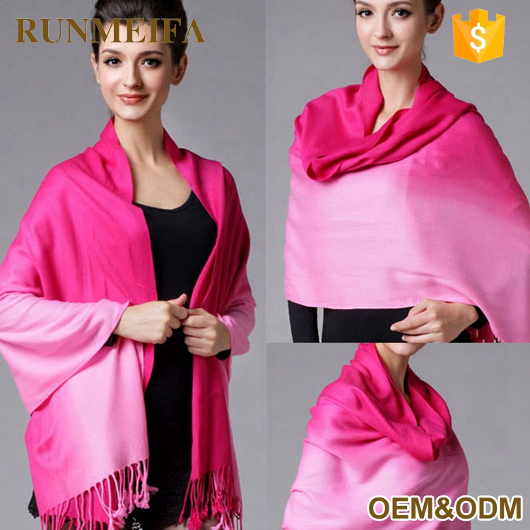 2 Tone Ombre Ladies Pashmina Scarf And Shawl