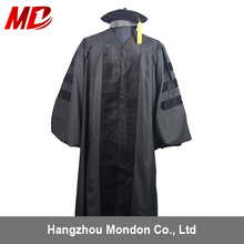 College Cap and Graduation Gown university gown for Doctor Degree