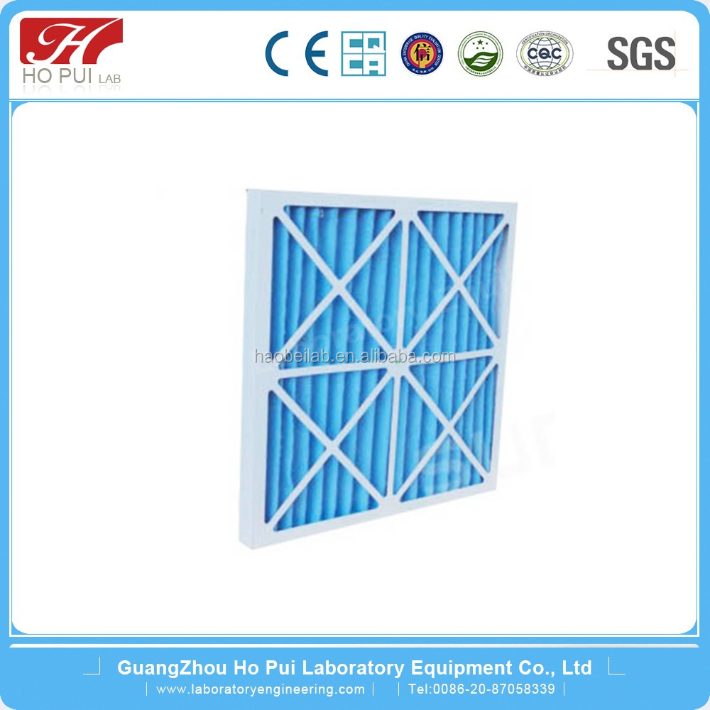 Metal frame / Pleated non-woven synthetic media Primary Filter MPP Panel Air Filters for lab used