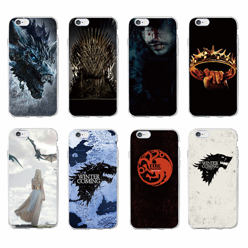 TOMOCOMO Hot Sale Fashion Ultra-thin Soft TPU Case For Cute iPhone8 7s plus Game Thrones Phone Cases Cartoon Cover Skin