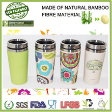 loyal camping keep water warm cup with lid, drink bamboo fibre cup