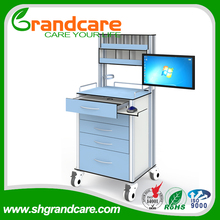 G-TA003 Medical Anesthesia Trolley With Screen Arm For Special Offer