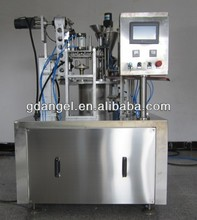 price of automatic rotary yoghurt cup filling and sealing machine