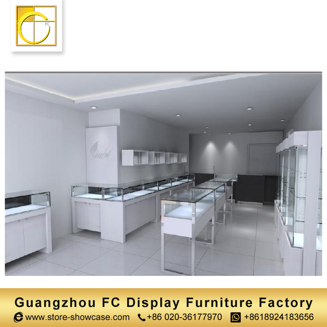 guangzhou factory custom jewelry showcase watch display cabinet glass display cabinet