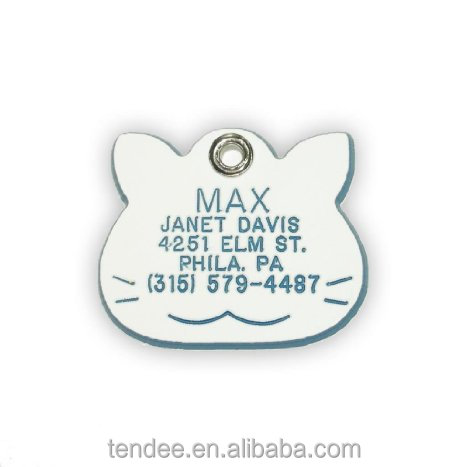 wholesale custom engraved metal couple dog tag
